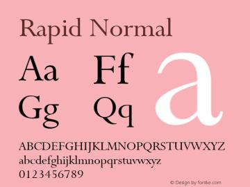 Rapid Normal Altsys Fontographer 4.1 1/9/95 Font Sample
