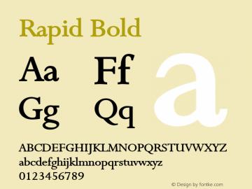Rapid Bold Altsys Fontographer 4.1 1/9/95 Font Sample