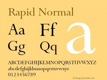 Rapid Normal Altsys Fontographer 4.1 4/28/96 Font Sample