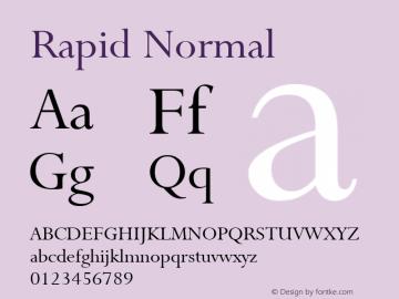 Rapid Normal 1.0 Sat Jun 10 14:57:41 1995 Font Sample