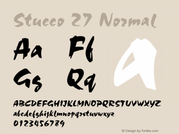 Stucco 27 Normal 1.0 Tue Oct 30 15:35:33 2001 Font Sample