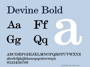 Devine Bold Altsys Fontographer 4.1 12/28/94 Font Sample