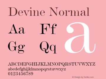 Devine Normal Altsys Fontographer 4.1 11/2/95 Font Sample