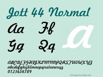 Jott 44 Normal 1.0 Wed Jul 28 17:39:36 1993 Font Sample