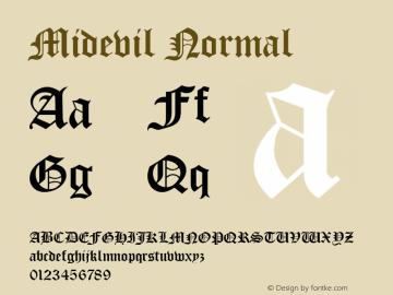 Midevil Normal 1.0 Wed Jul 28 13:46:37 1993 Font Sample