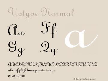 Uptype Normal Altsys Fontographer 4.1 1/10/95 Font Sample