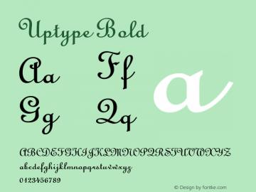 Uptype Bold Altsys Fontographer 4.1 1/10/95 Font Sample