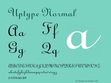Uptype Normal Altsys Fontographer 4.1 6/10/96 Font Sample