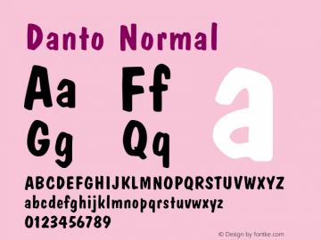 Danto Normal Altsys Fontographer 4.1 1/30/95 Font Sample