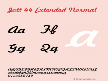 Jott 44 Extended Normal 1.0 Wed Jul 28 17:24:53 1993 Font Sample