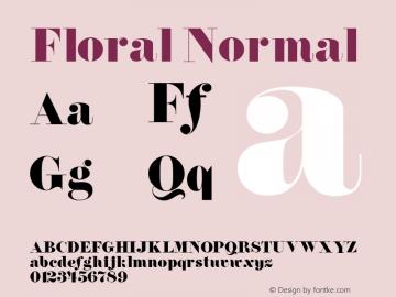 Floral Normal 1.0 Tue Jul 27 01:05:09 1993 Font Sample