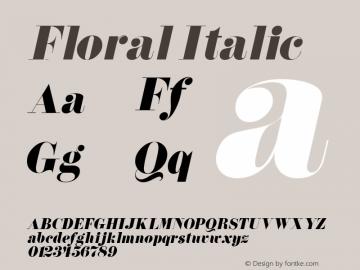 Floral Italic Altsys Fontographer 4.1 5/14/96 Font Sample