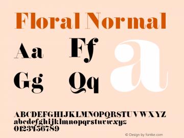 Floral Normal Altsys Fontographer 4.1 5/14/96 Font Sample