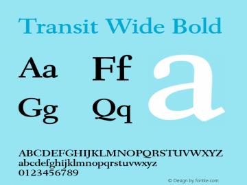 Transit Wide Bold Altsys Fontographer 4.1 1/10/95 Font Sample