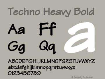 Techno Heavy Font,Techno Heavy Bold Font,TechnoHeavyBold