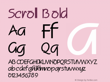 Scroll Bold Altsys Fontographer 4.1 2/2/95 Font Sample