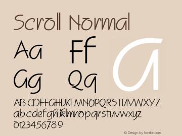 Scroll Normal Altsys Fontographer 4.1 2/2/95 Font Sample