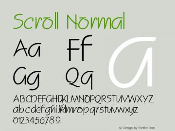 Scroll Normal Altsys Fontographer 4.1 11/3/95 Font Sample