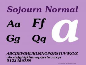 Sojourn Normal Altsys Fontographer 4.1 12/22/94 Font Sample