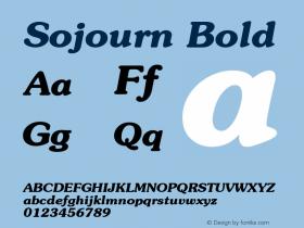 Sojourn Bold Altsys Fontographer 4.1 12/22/94 Font Sample
