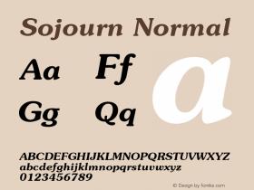 Sojourn Normal Altsys Fontographer 4.1 11/3/95 Font Sample