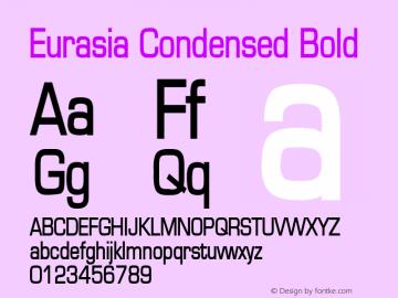 Eurasia Condensed Bold Altsys Fontographer 4.1 1/30/95 Font Sample