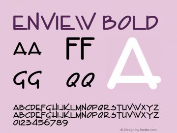 Enview Bold Altsys Fontographer 4.1 1/31/95 Font Sample
