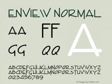 Enview Normal Altsys Fontographer 4.1 1/31/95 Font Sample
