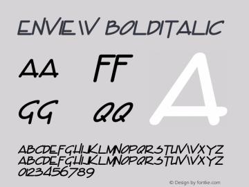 Enview BoldItalic Altsys Fontographer 4.1 5/29/96 Font Sample