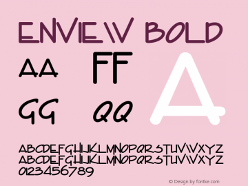 Enview Bold Altsys Fontographer 4.1 5/29/96 Font Sample