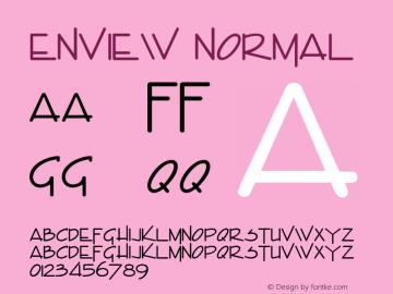 Enview Normal Altsys Fontographer 4.1 11/2/95 Font Sample
