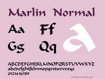 Marlin Normal Altsys Fontographer 4.1 12/22/94 Font Sample