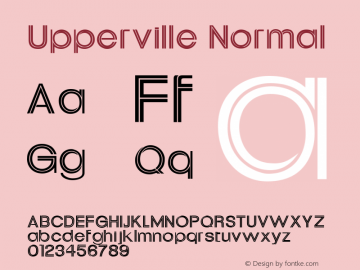 Upperville Normal 1.0 Tue Oct 30 16:12:40 2001 Font Sample