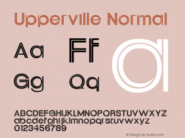 Upperville Normal Altsys Fontographer 4.1 11/2/95 Font Sample