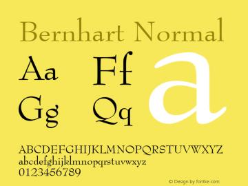 Bernhart Normal 1.0 Wed Jul 28 00:57:57 1993 Font Sample