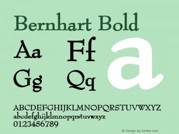 Bernhart Bold 1.0 Wed Jul 28 00:56:08 1993 Font Sample