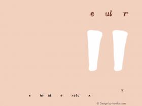 汉仪雪君体简 Version 3.53 Font Sample