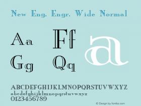 New Eng. Engr. Wide Normal 1.0 Wed Jul 28 18:24:54 1993 Font Sample