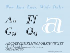 New Eng. Engr. Wide Italic 1.0 Wed Jul 28 18:24:12 1993 Font Sample
