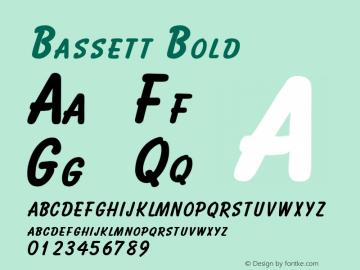 Bassett Bold Altsys Fontographer 4.1 2/2/95 Font Sample