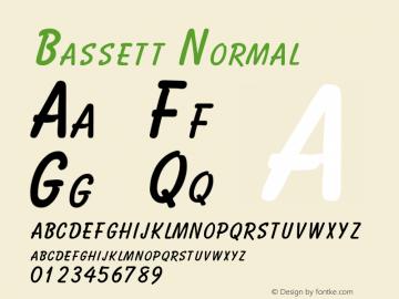 Bassett Normal Altsys Fontographer 4.1 2/2/95 Font Sample
