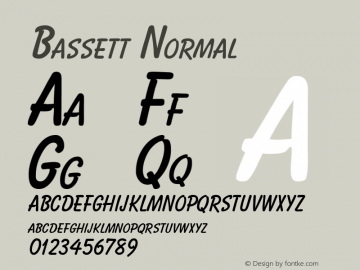 Bassett Normal Altsys Fontographer 4.1 10/31/95 Font Sample