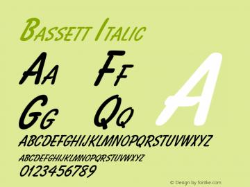 Bassett Italic Altsys Fontographer 4.1 10/31/95 Font Sample