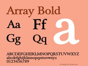 Array Bold Altsys Fontographer 4.1 5/28/96 Font Sample