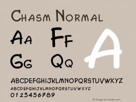 Chasm Normal Altsys Fontographer 4.1 2/2/95 Font Sample