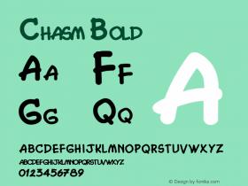 Chasm Bold Altsys Fontographer 4.1 5/27/96 Font Sample