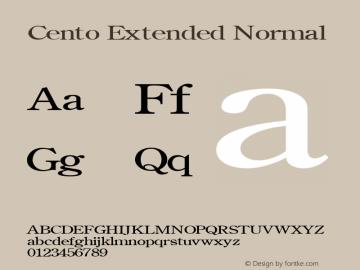 Cento Extended Normal Altsys Fontographer 4.1 1/27/95 Font Sample