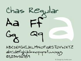 Chas Regular Altsys Metamorphosis:3/21/95 Font Sample