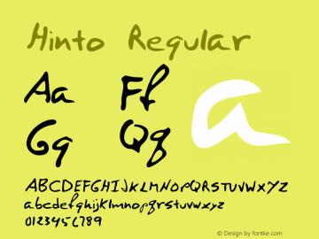 Hinto Regular Altsys Metamorphosis:12/7/94 Font Sample