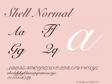 Shell Normal Altsys Fontographer 4.1 11/3/95 Font Sample